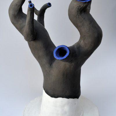 'Griekse vaas ', keramiek, potlood, 36 cm hoog, 2010