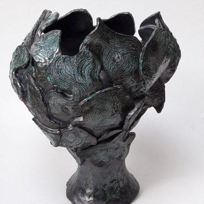 'Gebladerte', steengoed, 32 cm hoog, 2016