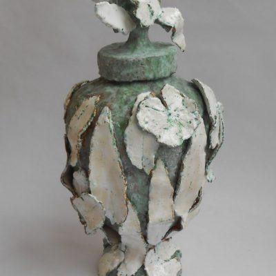 'Boomvaas met kooi ', keramiek, 55 cm, 2010