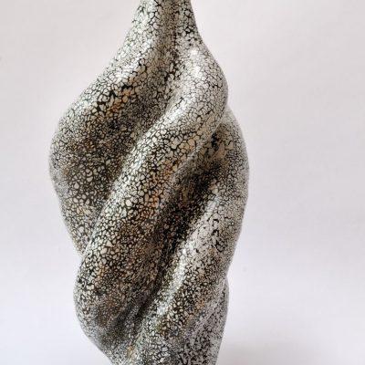 'Gedraaide vaas', keramiek, 35 cm hoog 2013