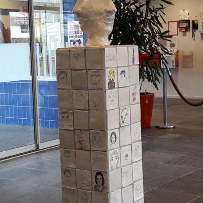 """In samenwerking met de bewoners. """"Identities"""" opdracht van Museum Smaak voor bejaardencentrum De Vreugdenhof te Amsterdam."""