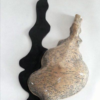 Schaduwvaas 1 keramiek, potlood, 65 cm hoog, 2020